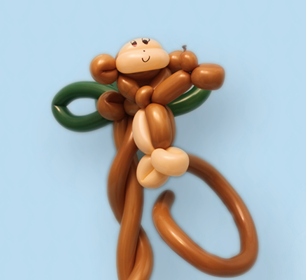 Balloon Monkey on a Tree