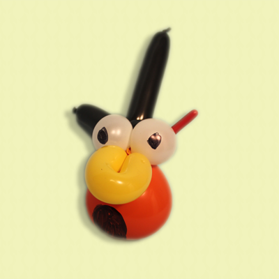 Balloon Angry Bird Orange